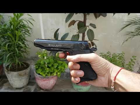 EKOL MAJOROV 9MM BLANK GUN SHOOTING