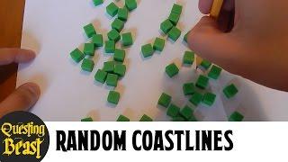 How to Draw Random Coastlines: Fantasy Map Making Tutorial for DnD