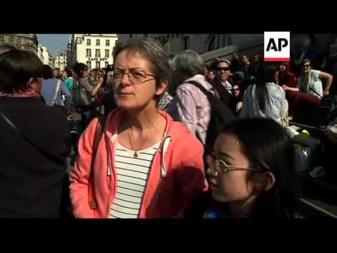 Protest march in Paris against racism and fundamentalism