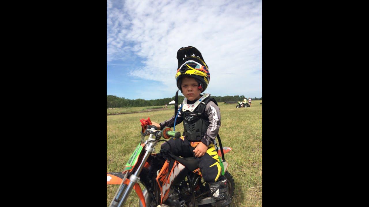Ayden Dirt Bike Racing On A 50cc Ktm Youtube