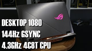 Asus ROG Chimera G703 144Hz Gsync GTX 1080 Gaming Laptop Review