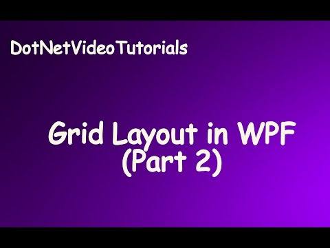 Grid Layout in WPF