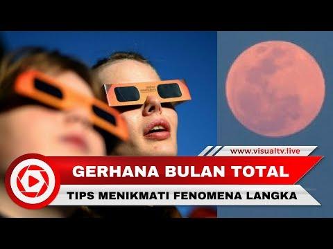 Tips Melihat Langsung Gerhana Bulan Total, Supermoon dan Bluemoon