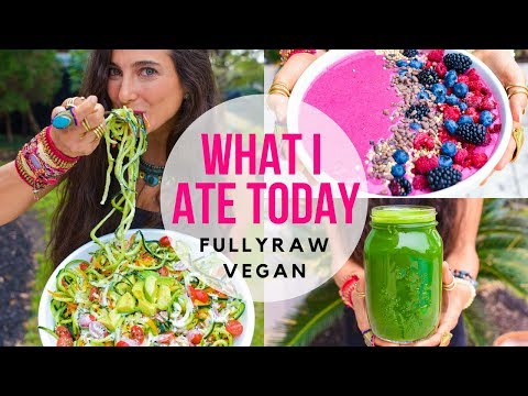 WHAT I ATE TODAY   FullyRaw Vegan Style
