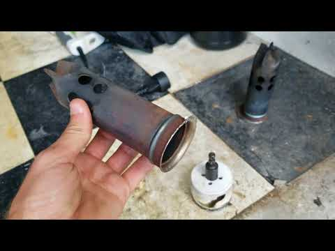 Street Glide exhaust baffle removal - YouTube
