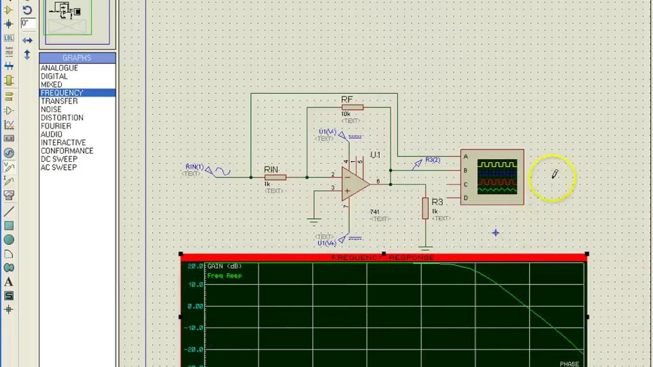 Active Inverting Op Amp Low Pass Filter Circuit