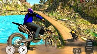 لعبة سباق موتورات جبلية في الطرقات الوعرة الجبلية سباق الدراجات #1||.Offroad Bike Racing screenshot 3