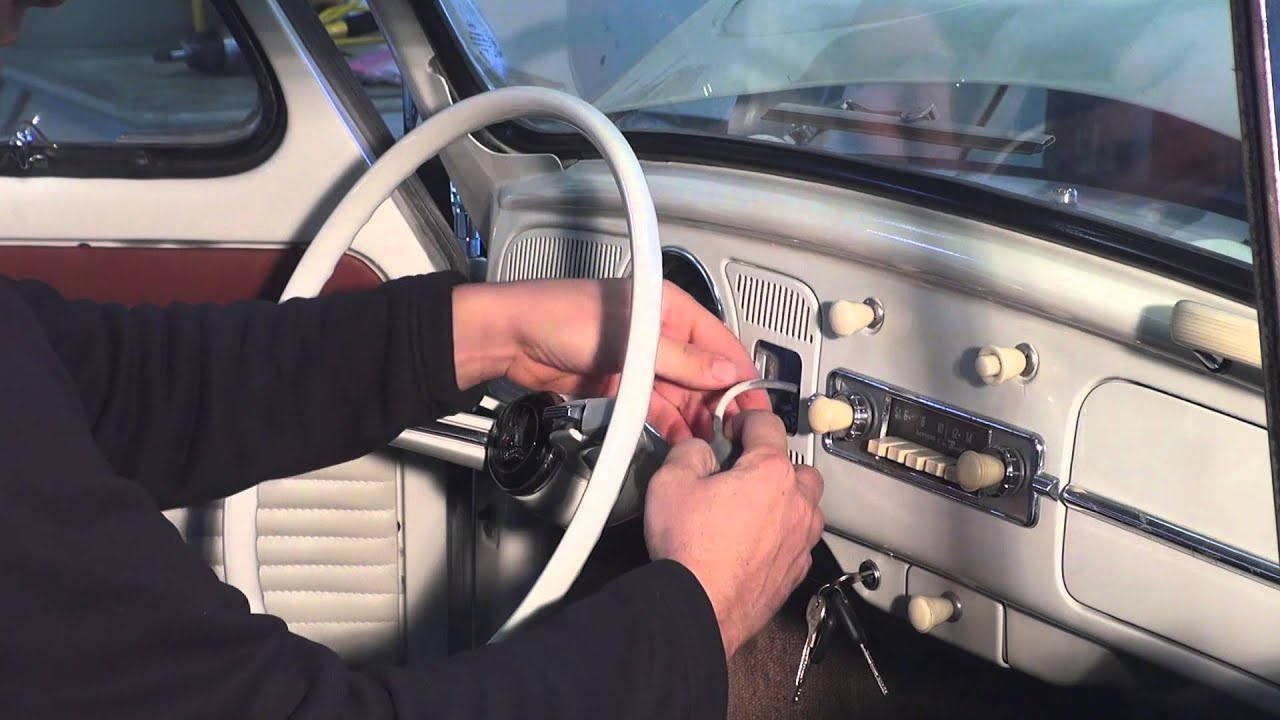 classic vw bugs how to remove early beetle fuel gas gauge unit from dash [ 1280 x 720 Pixel ]