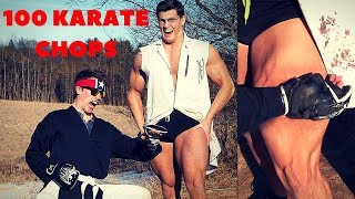 Karate Chopped 100 TIMES in the Leg Experiment *DANGEROUS* | Karate Chop Damage Test VS Muscle