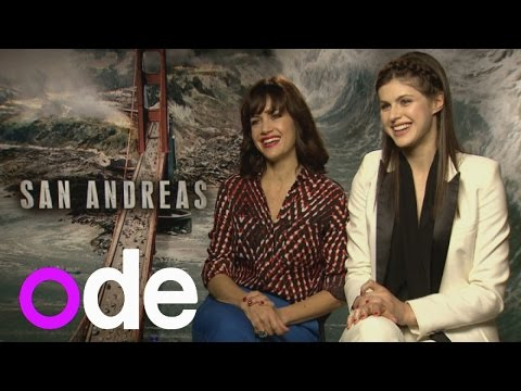 San Andreas: Carla Gugino and Alexandra Daddario on Dwayne Johnson