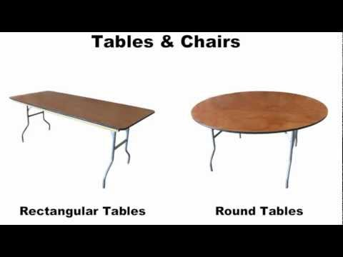 Table Rentals, Chair Rentals, Tent Rentals, Event Tables And Chairs Rental Los Angeles