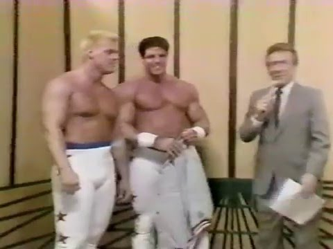 Debut of Freedom Fighters  Jim Hellwig and Steve Borden 11231985