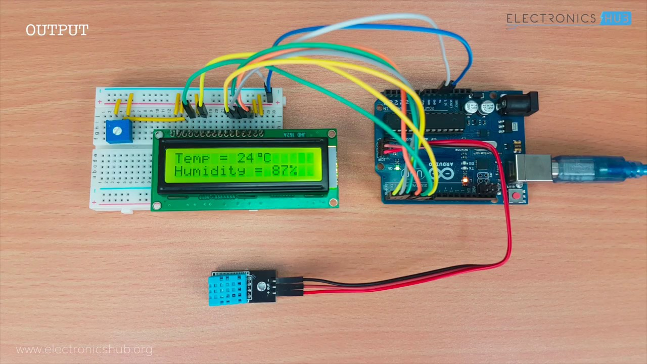 dht11 humidity sensor on arduino [ 1280 x 720 Pixel ]