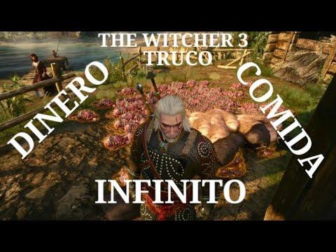 Truco the witcher 3 dinero y comida infinita