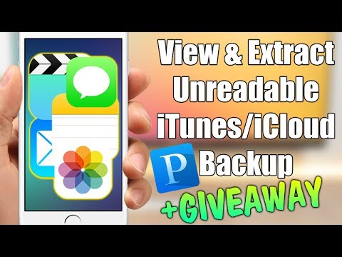 HOW TO Recover Lost Data From iTunes/iCloud Backup & Extract iOS Data + GIVEAWAY !!!