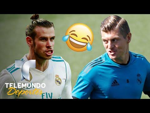 "Kroos se burla de Bale por su español y él le revela un ""secreto"" | Champions League | Telemundo"