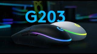 Mouse Gamer Logitech G203 Lightsync Black