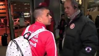 Andrés D'Alessandro vivió un tenso momento en el aeropuerto de Proto Alegre
