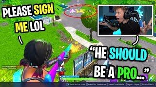 This kid is the most UNDERRATED Fortnite player ever... (he should be a PRO PLAYER!)