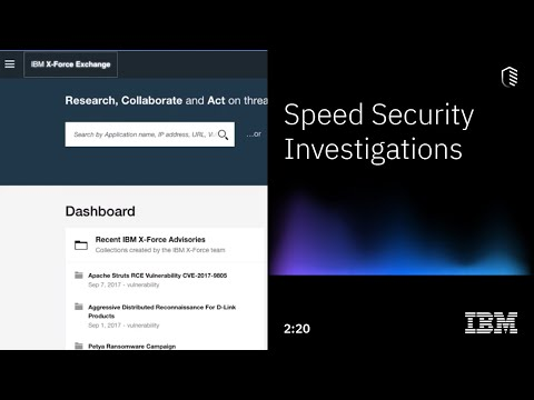 X-Force Exchange Threat Intelligence: Speed Security Investigations