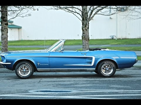 1967 Ford Mustang Convertible in Acapulco Blue