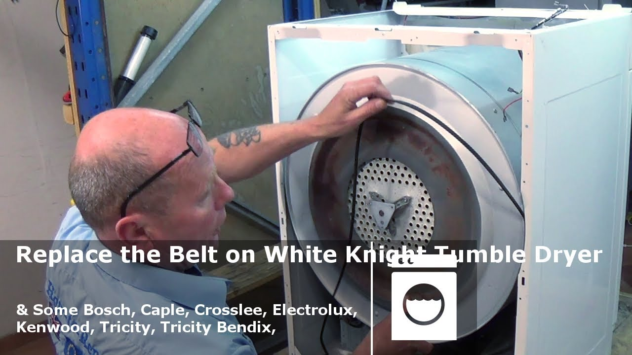 Replace The Belt On White Knight Tumble Dryer Some Others Crosslee Indesit Washing Machine Wiring Diagram Bosch Etc