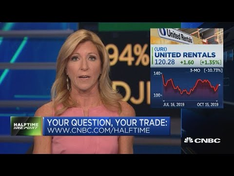How to play United Rentals earnings, the trade on GM and more in #AskHalftime