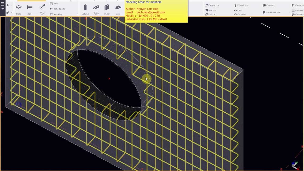 Modeling Rebar For Manhole Youtube