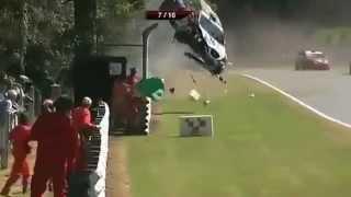 Смачная подборка аварий на гонках