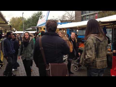 Flashmob DoMu-studenten Codarts Rotterdam Markt Delfshaven