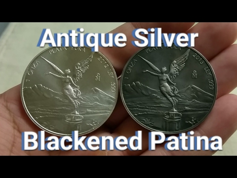 How to Antique Silver Bullion Coins - Blackened Patina Finis