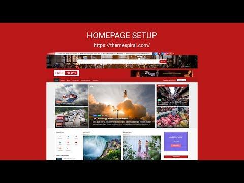freenews-homepage-setup
