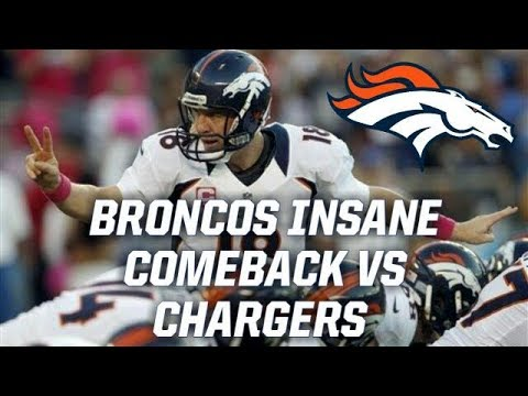 Denver Broncos Miraculous Comeback Against the Chargers in 2012!!    Throwback Highlights