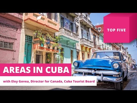 Top five areas for tourists in Cuba