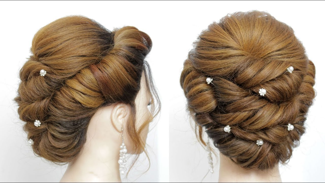 Bridal Updo Hairstyle For Long Medium Hair