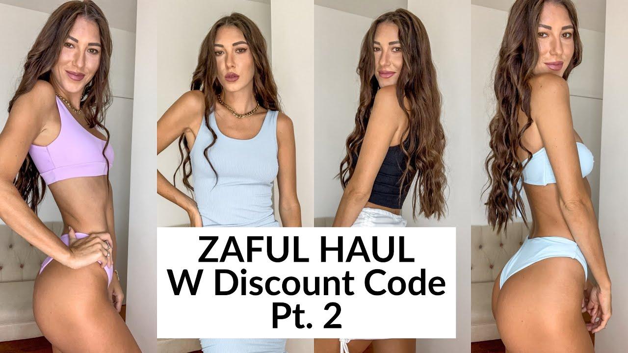 ZAFUL BIKINIS & BASICS TRY ON HAUL W DISCOUNT CODE! MUST HAVES!