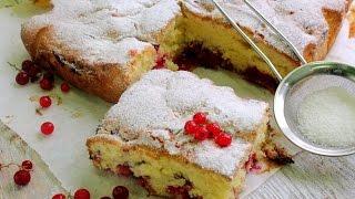 Пирог с ягодами рецепт: пирог с замороженными ягодами смородины.