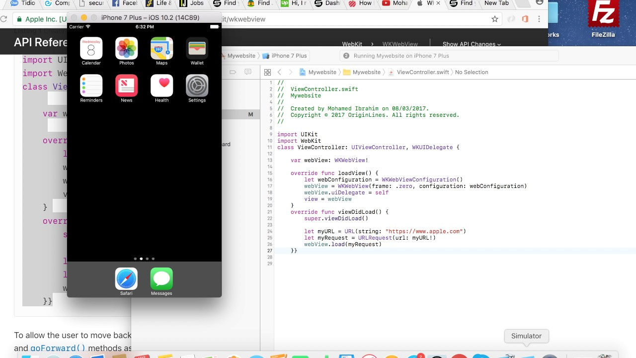 Turn your website or blog into IOS app using Xcode 10 and swift 4 2