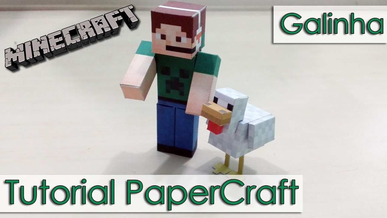 Papercraft Tutorial PaperCraft Minecraft - Galinha / Chicken