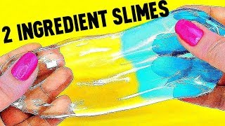 2 INGREDIENT SLIMES! MUST TRY !! / No Borax / 3 Recipes