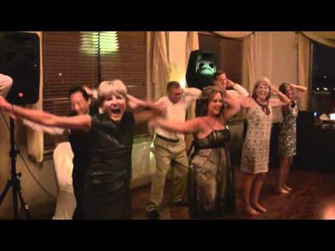 Parents and Friends Surprise Bride and Groom at Wedding