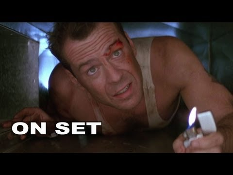 Die Hard (1988): Behind-the-Scenes Footage (Broll) Bruce Willis