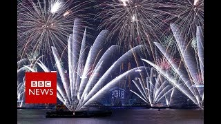New Year 2018: Hong Kong's celebration- BBC News