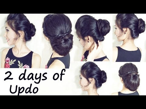 2-Minute Elegant BUN Hairstyle | Easy Updo Hairstyles | 2 days of Updo