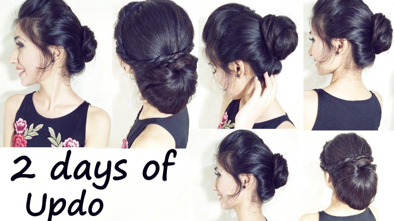 2-Minute Elegant BUN Hairstyle   Easy Updo Hairstyles   2 days of ...
