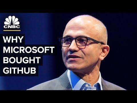 Satya Nadella Talks Microsoft GitHub Acquisition | CNBC