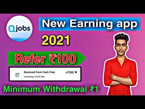 Minimum Redeem ₹1 || Refer ₹100 Instant !! q jobs payment proof !! Q jobs Refer And Earn