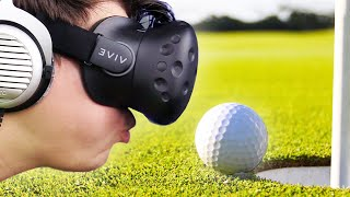 GOLF VR SIMULATOR! (Multiplayer: HTC VIVE)