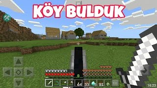 Minecraft Pe Sade Survival |Köy Bulduk|Bölüm 7