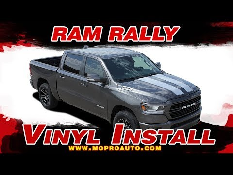2019 2020 Dodge Ram Stripes   Ram RALLY Decals   Vinyl Graphics Installation of Dodge Ram Vinyl Grap